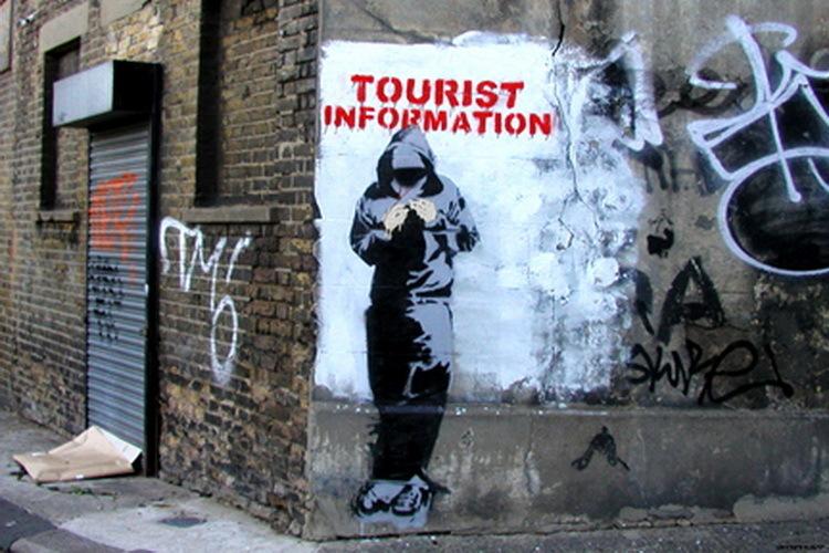 Banksy Tourist Information Mini Paper Poster