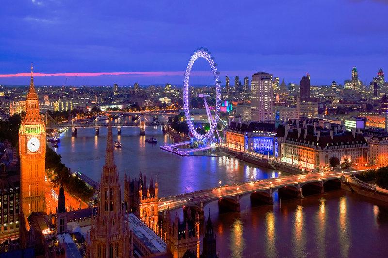 London London Eye River View Blue Colour Mini A2