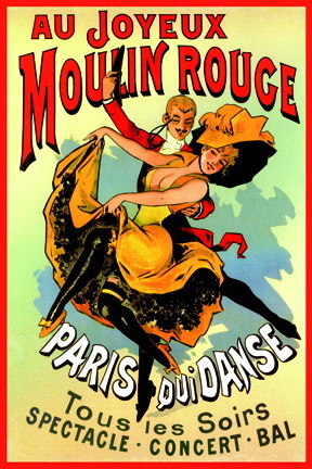 Moulin Rouge French Art Mini Paper Poster