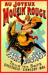 Moulin Rouge - French Art - Mini Paper Poster