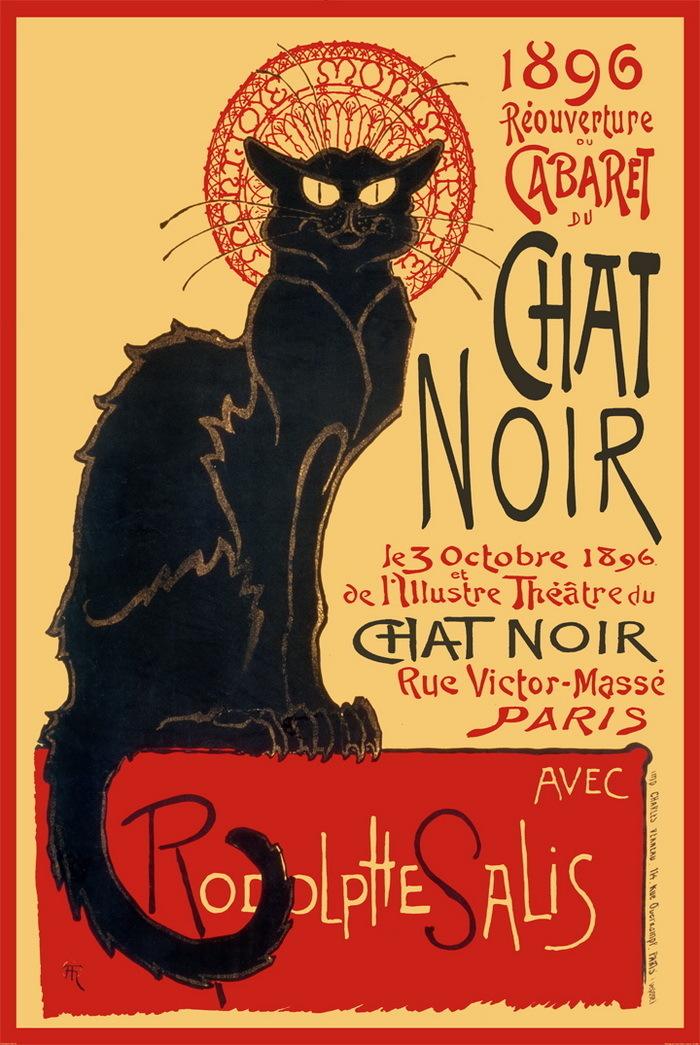 Chat Noir French Art Mini Poster Camden Town Poster