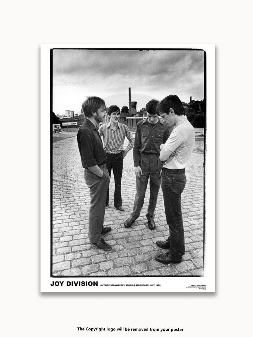 Joy Division Strawberry Studios July 1979 A1 Post Punk Poster