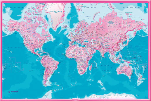 World political pink map in german language maxi paper poster world political pink map in german language maxi paper poster gumiabroncs Choice Image