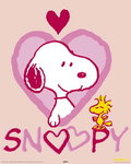 Snoopy Heart - Mini Paper Poster