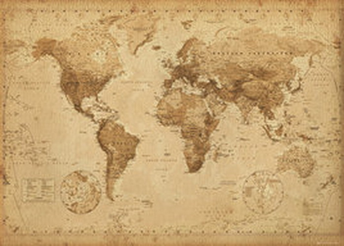 world map vintage giant paper poster camden town poster pany