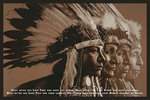Indian Cree Prophecy Four Chiefs Maxi Paper Poster