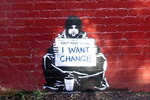 "Banksy - Beggar ""I Want Change"" - Maxi Paper Poster"