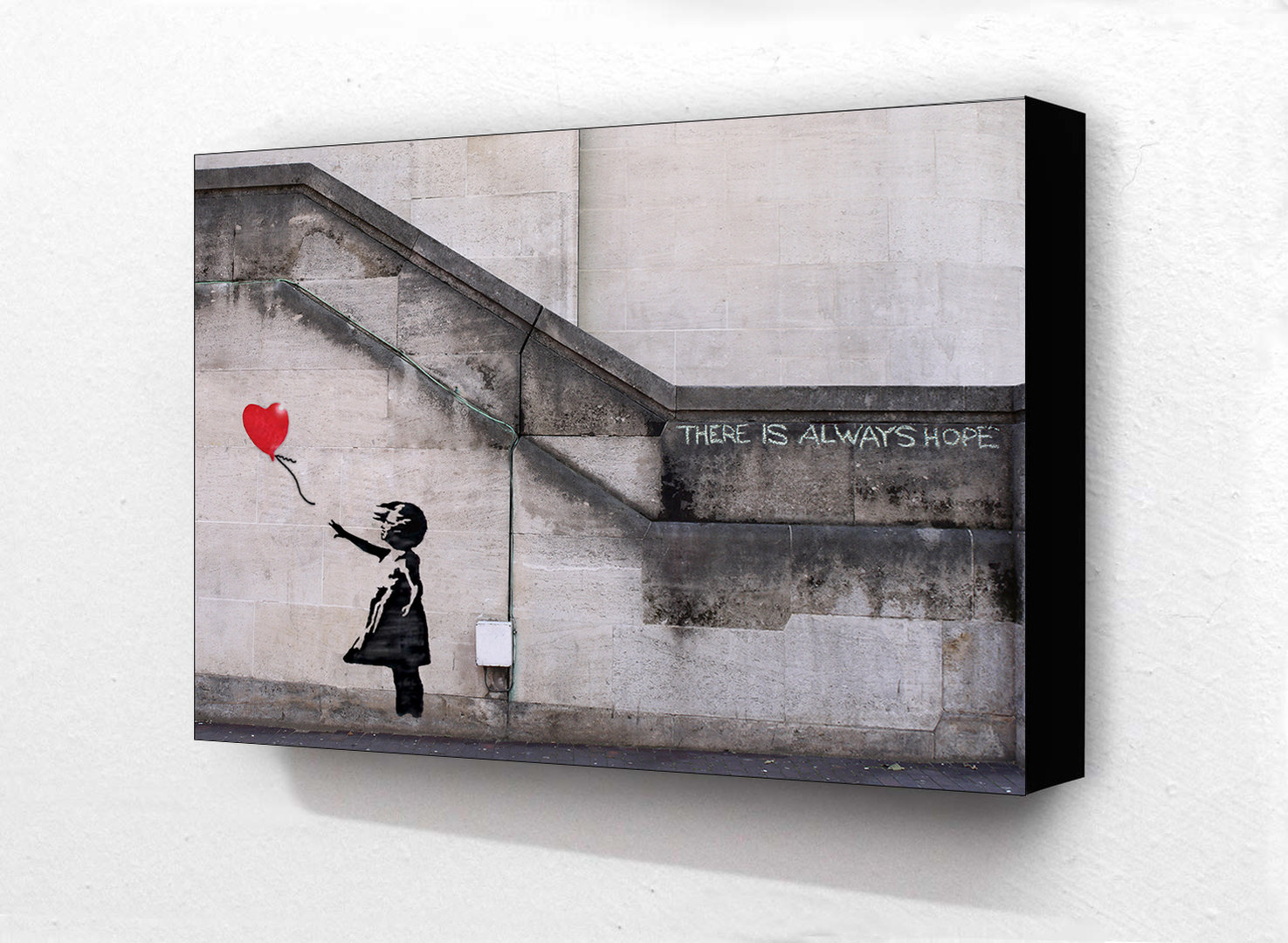 Banksy Balloon There Is Always Hope Block Mounted Print Camden Town Poster Company