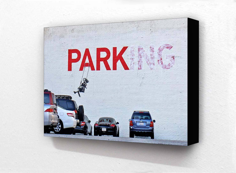 Banksy Parking Girl On Swing Colour Block Mount Camden