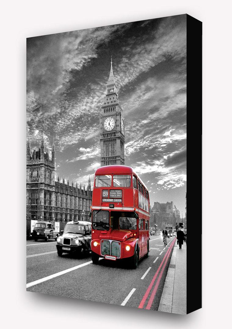 London Red Bus Routemaster 2 Tone Vertical Block Mount