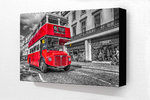 London Red Bus Tower Hill Block Mounted Print
