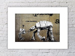 Banksy I am Your Father Left Mounted Print