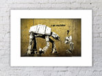 Banksy I am Your Father Right Mounted Print