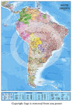 South America Map 2015 Edition Poster