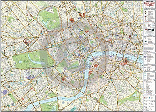 Central London Map Maxi Paper Poster Camden Town Poster Company