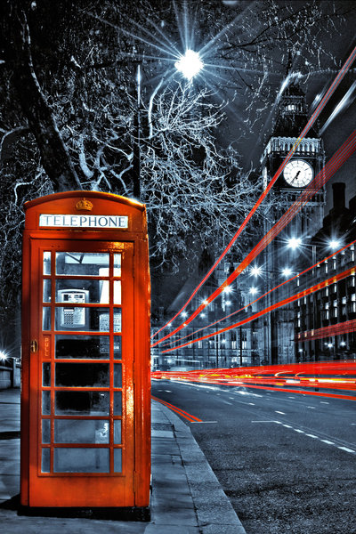 London Red Telephone Box Mini A2 Paper Poster Camden