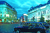 London - Black Cabs- Hackney Cabs- Piccadilly Circus English Taxis Mini A2 Paper Poster