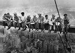 New York Construction Workers Lunch atop a Skyscraper A2 Paper Poster