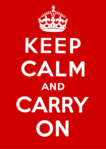 Keep Calm and Carry On - Red - Vintage Propaganda Mini A2 Paper Poster