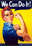"Rosie the Riveter ""We can Do It""  Mini A2 Paper Poster"