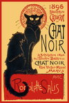 Chat Noir - French Art Mini Paper Poster