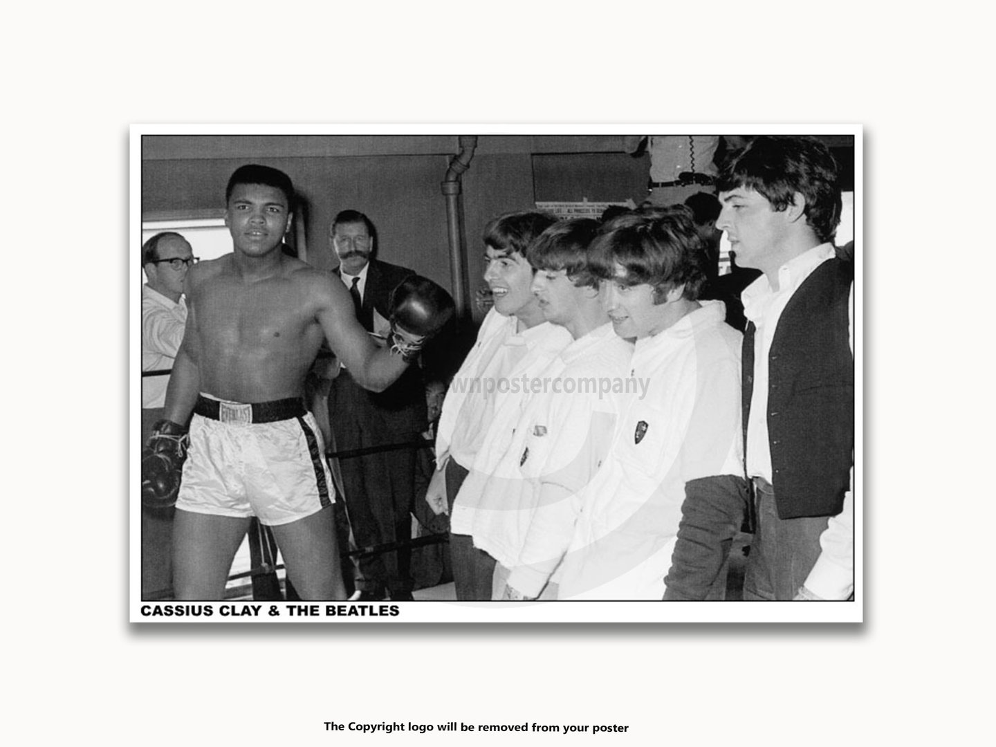 Framed with WHITE mount Muhammad Ali / Cassius Clay and the Beatles ...