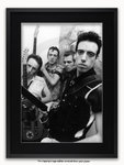 Framed with BLACK mount The Clash Mogador Theatre Paris September 1981 A1 punk rock poster