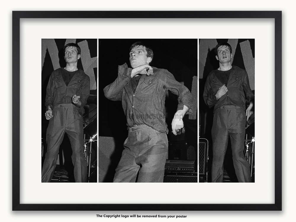 Framed With White Mount Ian Curtis Joy Division Triptic A1 Rock Poster