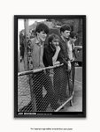 Black Framed - Joy Division Stockport Barrier July 1979 A1 post-punk poster