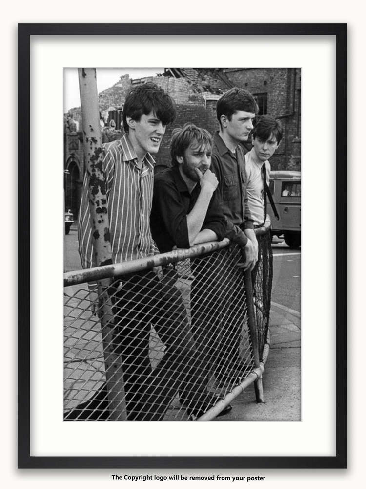 Framed With White Mount Joy Division Stockport Barrier July 1979 A1 Post Punk Poster