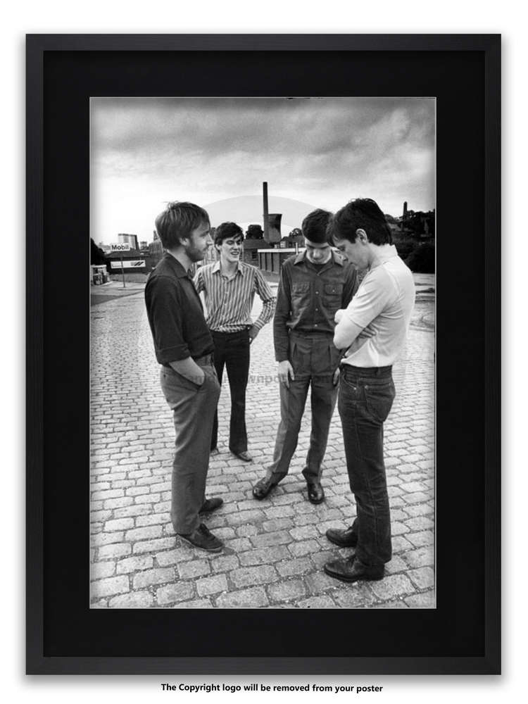 Framed With Black Mount Joy Division Strawberry Studios July 1979 A1 Post Punk Poster