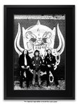 Framed with BLACK mount Motorhead A1 rock metal poster