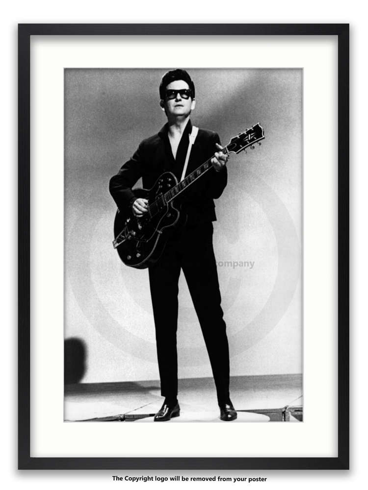 Framed with WHITE mount Roy Orbison, The Big O A1 rockabilly poster ...
