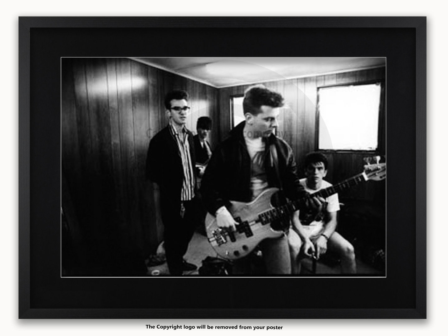 Framed With White Mount The Smiths Glastonbury A1 Rock & The Smiths Wall Art - Elitflat