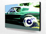 Blockmounted - Steve Mcqueen Mustang Pop Art Mini A2 Poster