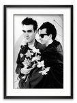Framed with WHITE mount The Smiths Morrisey and Marr Manchester April 1983 A1 rock poster