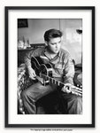 Framed with WHITE mount Elvis Presley Maxi Poster