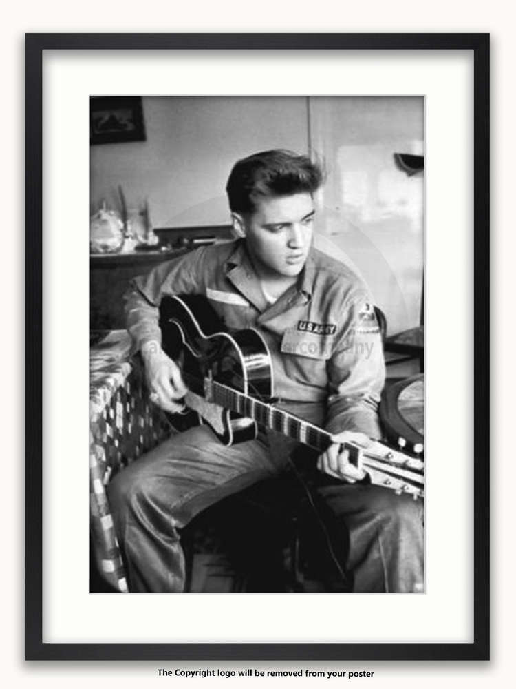 Framed with WHITE mount Elvis Presley Maxi Poster - Camden Town ...