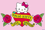 Hello Kitty -Tattoo - Love Forever h Maxi Paper Poster