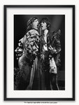 Framed with WHITE mount The Rolling Stones - Mick Jagger & Keith Richards 1976 A1 rock poster