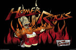 Simpson's - Homer - Flames - H Maxi Paper Poster
