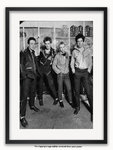 Framed with WHITE mount The Clash Chalk Farm 1977 A1 punk rock poster
