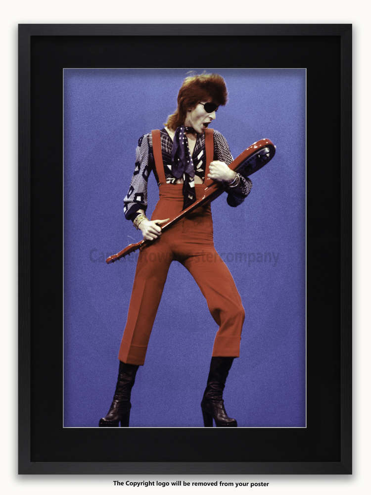Framed with BLACK mount David Bowie Holland 1974 A1 rock