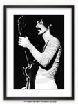 Framed with WHITE mount Frank Zappa Amsterdam 1970 A1 rock poster