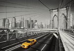 New York - Yellow Cab - Brooklyn Bridge - Maxi Paper Poster