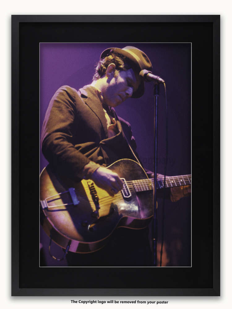 Framed with BLACK mount Tom Waits colour London 1981 A1 rock poster ...