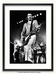 Framed with WHITE mount The Who Rotterdam 1975 A1 rock poster