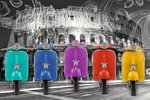Rome - Colosseum - Multi Colour Vespa Art - Maxi Paper Poster