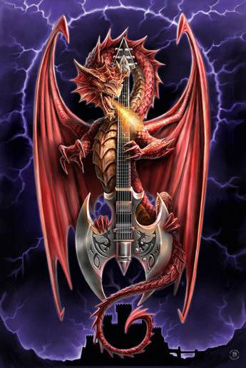 anne stokes dragon beauty maxi paper poster. Black Bedroom Furniture Sets. Home Design Ideas