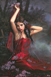 Arantza - Lily, Red Dress - V - Maxi Paper Poster